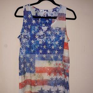 Sheer American Flag Top
